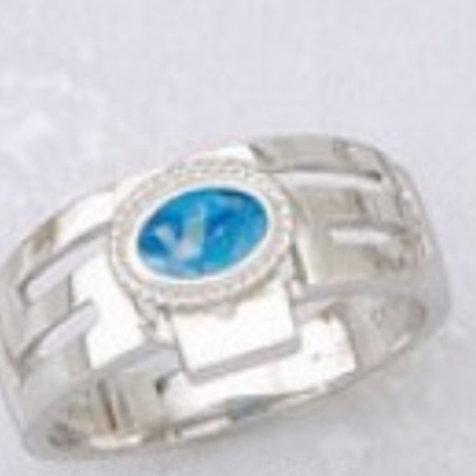 GREEK KEY DESIGN MEANDROS Sterling Silver Ring
