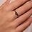 Thumbnail: Ti Sento Ring solitaire  with a dark Blue brilliant-cut round stone