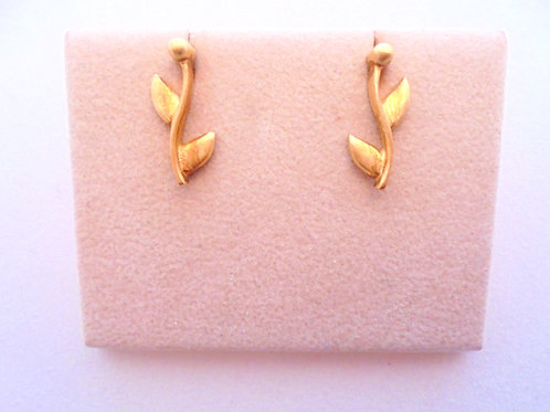 OLIVE BRANCH GOLD STERLING SILVER EARRINGS
