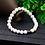 Thumbnail: Haima Lava Hematite Bracelet - White