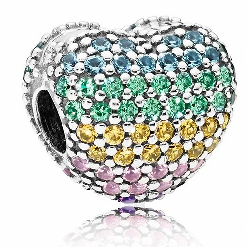 Pandora Pave Colourful  Heart