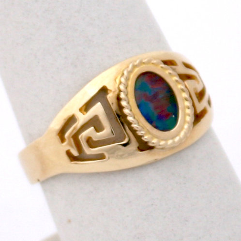 HANDMADE 14ct GOLD MEANDROS RING