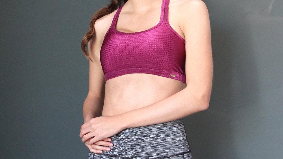 Calcao High Waist Yoga Shorts With Pocket - Silver/Grey