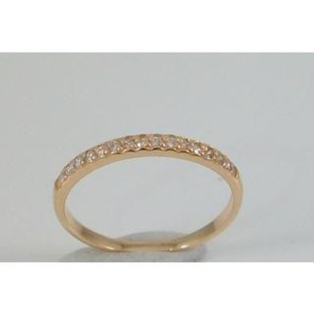 GOLD RING 14CK ROSE Gold with Cubic Zirconia in Brilliant Round Cut