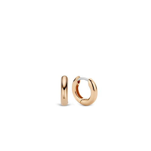 Ti Sento Earrings Hoops with a layer of 18kt rose gold plating applied mix&march