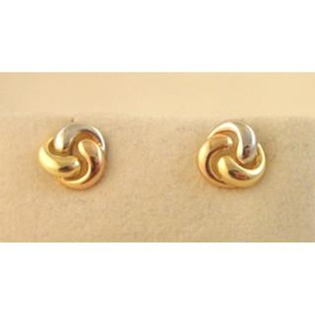 GOLD EARRINGS 14CK Gold Modern DESIGN ,WHITE, YELLOW & ROSE Gold