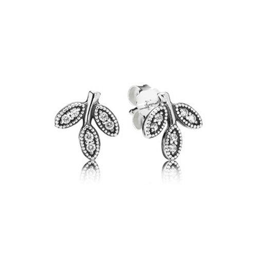 Pandora  Sparkling Leaves Earrings