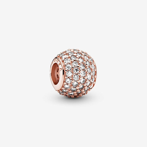 Pandora Rose  Ball Pavé charm,