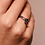 Thumbnail: Ti Sento Ring with handset clear blue round playful sparkle stone