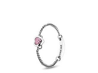 Pandora Pink Spiteted Heart Ring