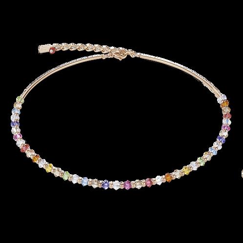 COEUR DE LION Necklace Swarovski® Crystals & rose gold multicolour pastel