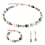 Thumbnail: COEUR DE LION Bracelet GeoCUBE® Swarovski® Crystals & Gemstones green-beige