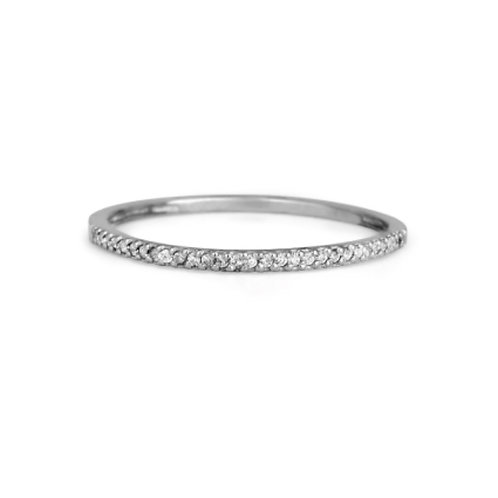 WHITE GOLD ETERNITY RING 14CK Gold with Diamond in a Row in Brilliant Round Cut