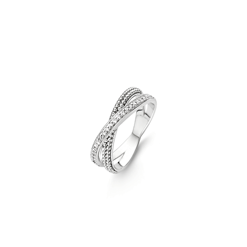 Ti Sento Ring with Two entwined Bands