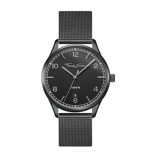 THOMAS SABO Women Watch CODE TS SMALL BLACK Stainless Steel