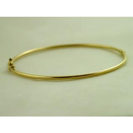 GOLD Bangle 14ckYELLOW GOLD With Double Safety Catch