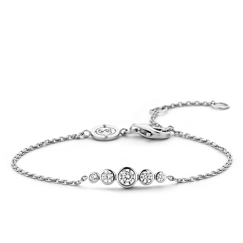 Ti Sento Bracelet  crafted with Silver rhodium plated and  Stones White Zirconia