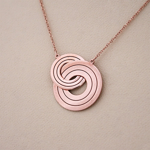 GOLD Necklace14ck Rose Gold Cycle Of Life Design