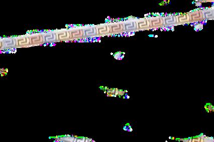GREEK KEY DESIGN MEANDROS 14ck  WHITE, YELLOW & ROSE GOLD Bracelet