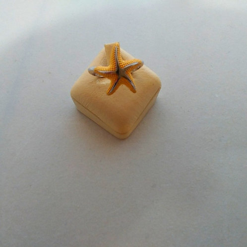 STAR FISH TWO TONE STERLING SILVER RING
