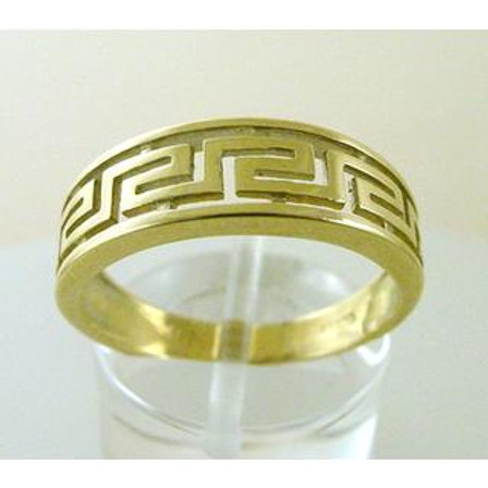 GREEK KEY DESIGN MEANDROS 14ck  YELLOWGOLD Ring