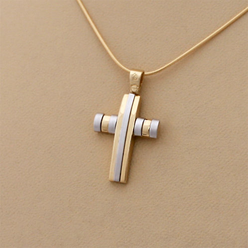 GOLD CROSS 14ck Gold Two_Tone White And Yellow Gold