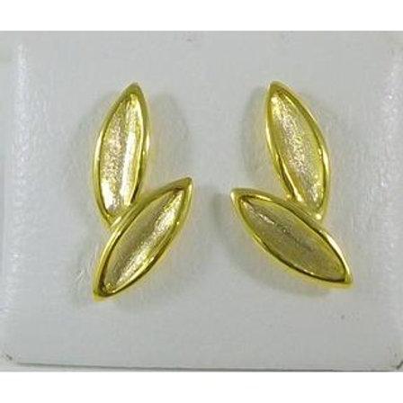 Olive Leaves Earrings 14ck Gold