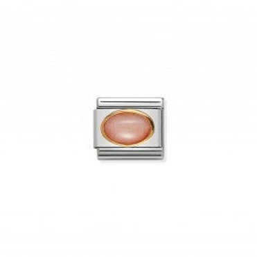 Nomination COMPOSABLE CLASSIC LINK IN GOLD WITH PINK CORAL