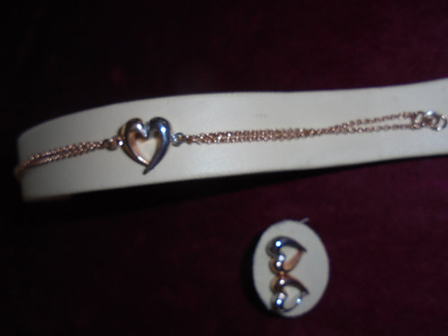 LOURDAS HEART BRACELET AND EARRINGS