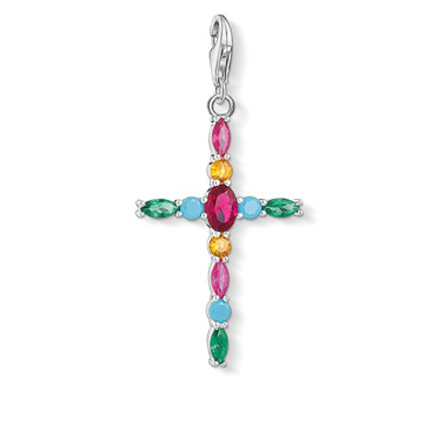 Thomas Sabo Charm Pendant  CROSS COLORFUL