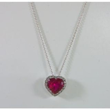 GOLD Necklace 14ck White Gold with Fancy Color Cubic Zirconia