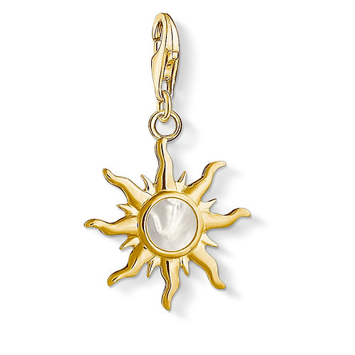 Thomas Sabo Charm Pendant Sun with mother-of-pearl stone