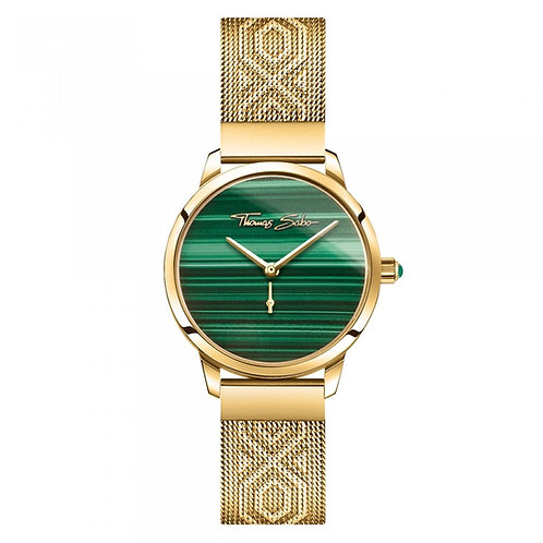 THOMAS SABO Women's Watch GARDEN SPIRIT MALACHITE GOLD Stainless Steel