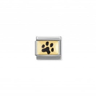 Nomination COMPOSABLE CLASSIC LINK BLACK PAW PRINT
