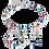 Thumbnail: COUER DE LION  GeoCUBE® Bracelet multicolour ethno