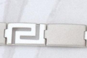 GREEK KEY DESIGN MEANDROS Sterling Silver Bracelet