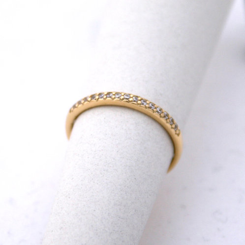 HANDMADE 14ct GOLD RING WITH BRILLIANT STONES