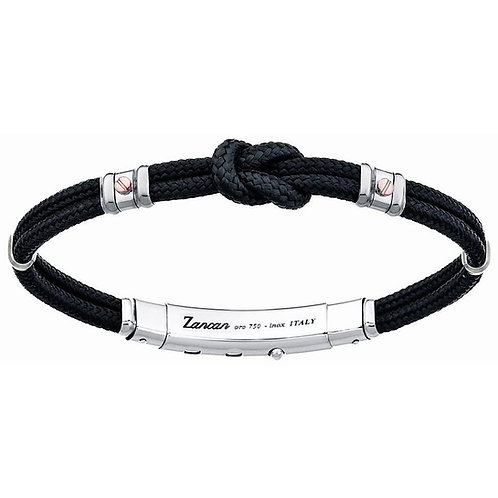 ZANCAN BRACELET WITH KEVLAR BLACK KNOT WITH ROSE GOLD SCREWS