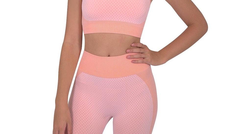 Trois Seamless Sports Bra - Pink