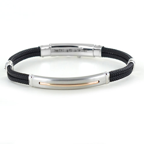 ZANCAN  BRACELET MEN'S SILVER AND KEVLAR ROBIKEVLAR COLLECTION