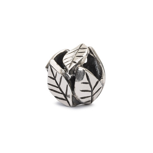 TROLLBEADS Silver Leaves of Grace