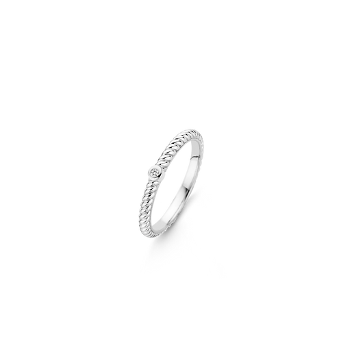 Ti Sento Ring with slightly larger white zirconia and silver setting