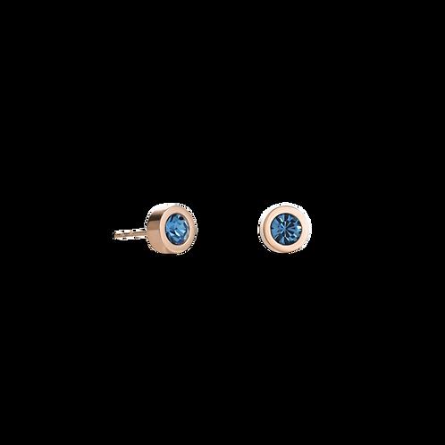 COEUR DE LION  Earrings Crystal & stainless steel rose gold petrol