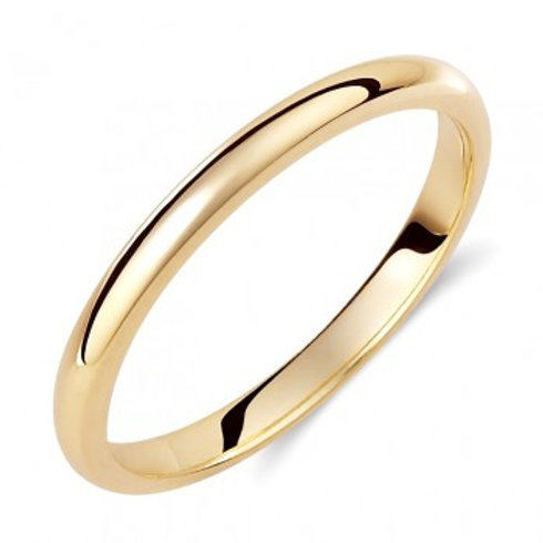 Wedding Band 14ck Yellow Gold