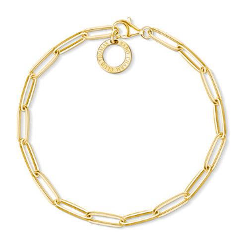 Thomas Sabo Charm  Gold Sterling Silver Bracelet