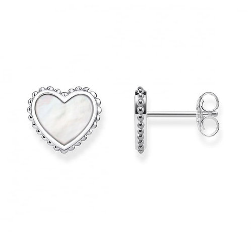 Thomas Sabo Earrings Hearts Studs MOTHER OF PEARL