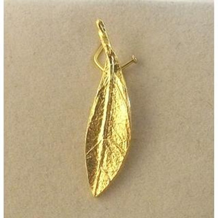 Olive Branch  YELLOW GOLD Pendant 14ck Gold with Matt Finish