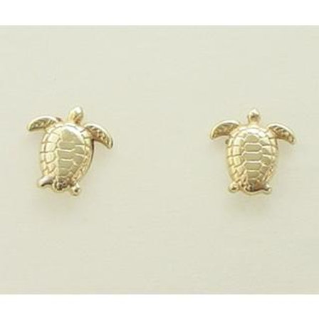 Gold Earrings 14ck Gold  Cephalonia Turtles