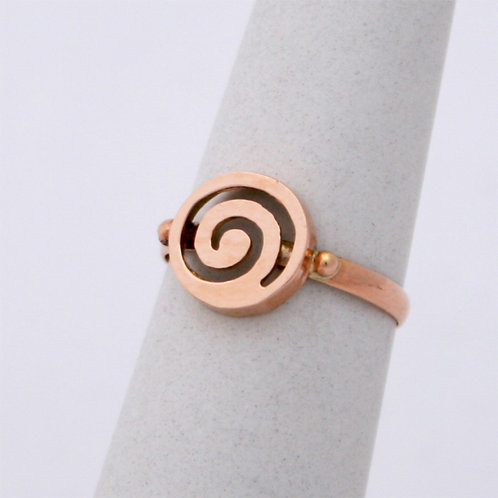 GREEK KEY DESIGN MEANDROS 14ck  ROSE GOLD  SPIRAL DESIGN Ring