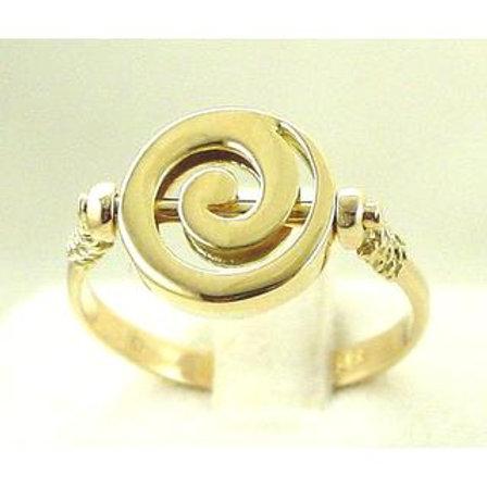 GREEK KEY DESIGN MEANDROS 14ck GOLD Ring Spiral design